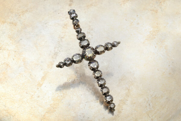 Antique Diamond Cross Pendant