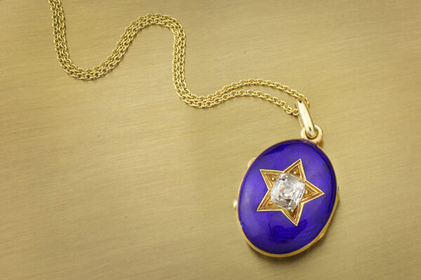 Antique Diamond And Enamel Locket