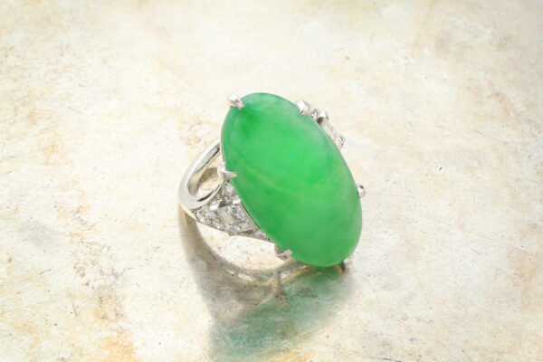 J.E. Caldwell Art Deco Jade And Diamond Ring