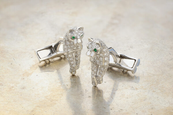 "Cartier ""Panthère de Cartier"" Diamond Cufflinks"