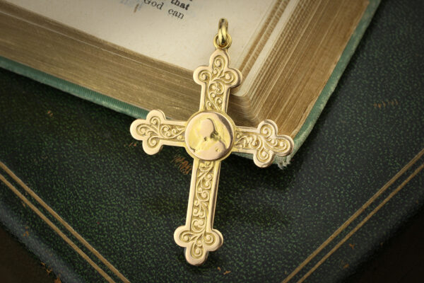 Antique Gold Cross Pendant