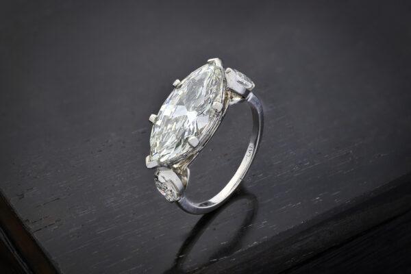 Marquise Shaped Diamond Ring
