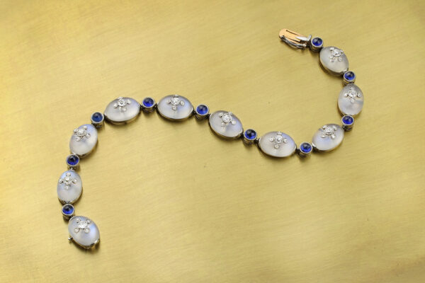 Belle Epoque Moonstone, Sapphire And Diamond Bracelet