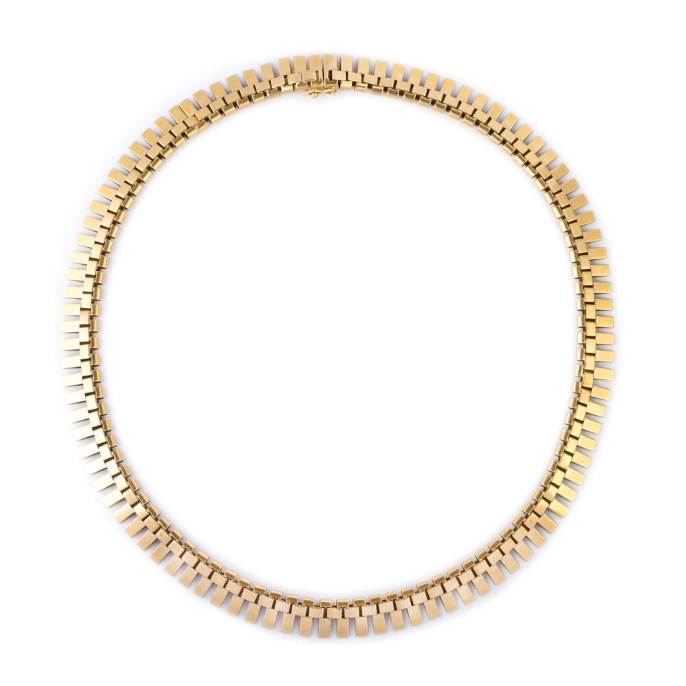 Retro Gold Collar Necklace