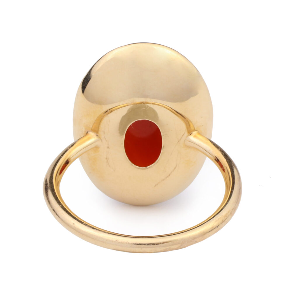 Carnelian and Rose Gold Ring