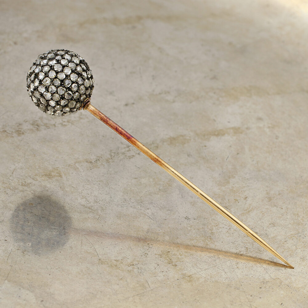 Antique Rose-cut Diamond Stick Pin