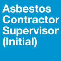 Asbestos Contractor Supervisor Initial Training - training for those who supervise asbestos abatement. Illinois Approved.