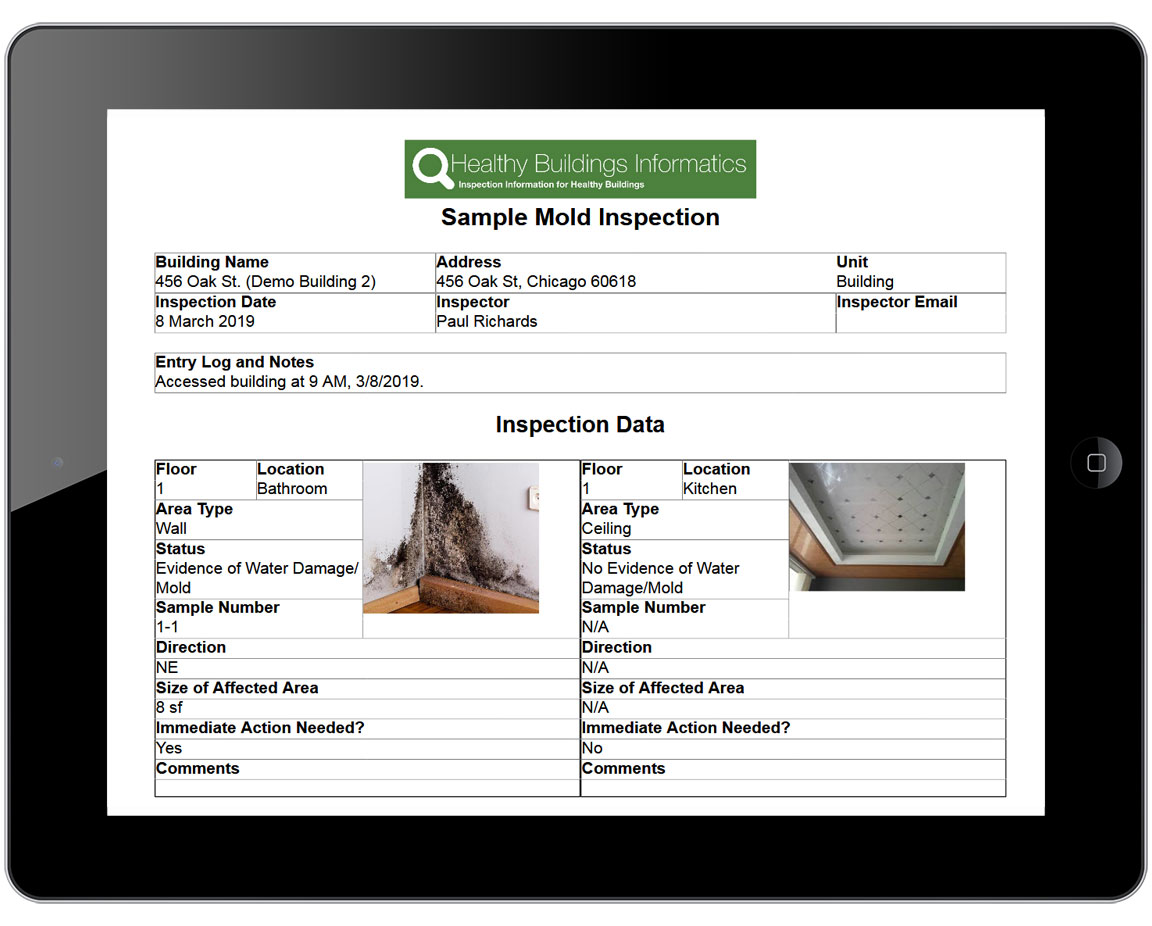 HBI Inspection report
