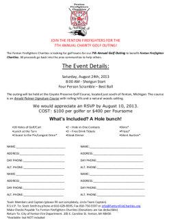 2013 Golf Team Registration