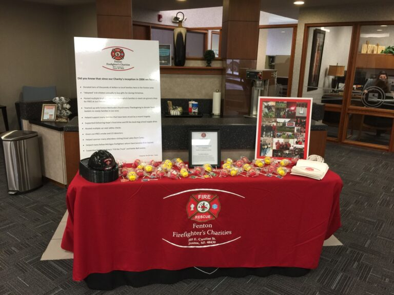 Fenton_Fire_Charities_Promotion_Table
