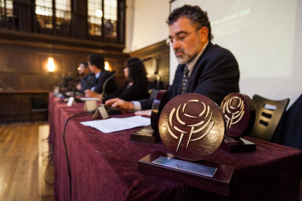 Evento de premiação da primeira edição do Prêmio SDSN Amazônia durante o Amazon Solutions Day na COP 21 em Paris.