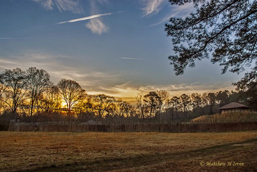Sunrise at Town Creek Indian Mound