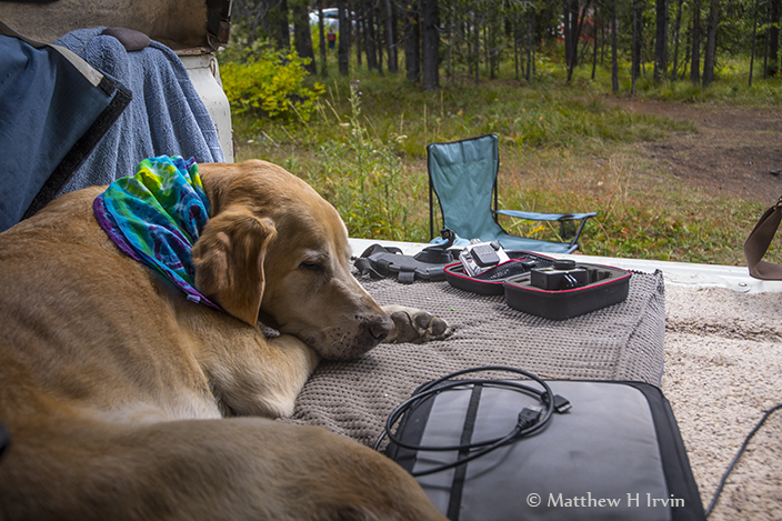Relaxing at Lizard Creek Campground.