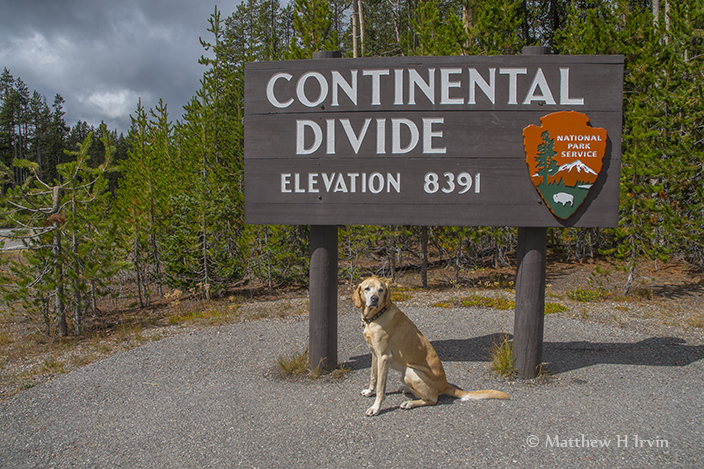 Me at Yellowstone, why is the continent divided anyway?