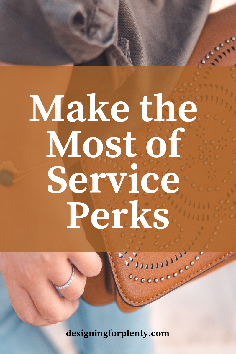 service perks, benefits, shopping local, make the most of, helping hand