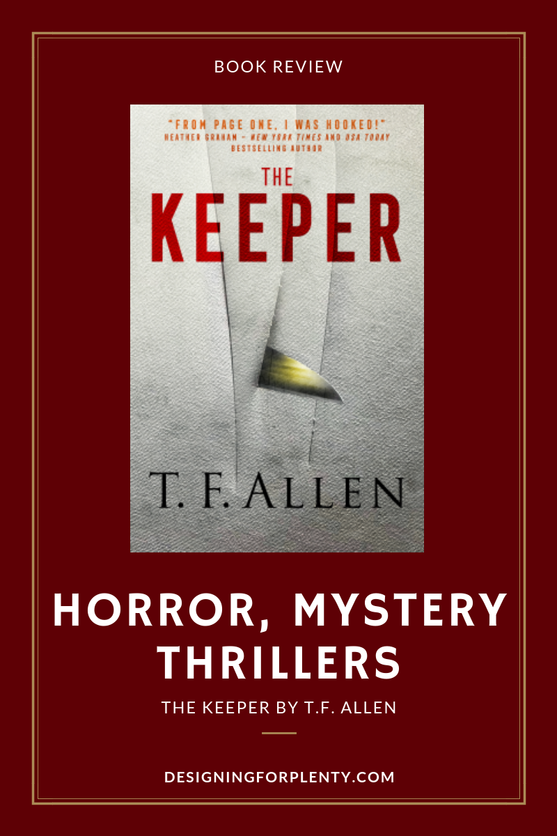 the keeper, t.f. allen, horror, mystery, thriller, book review, supernatural
