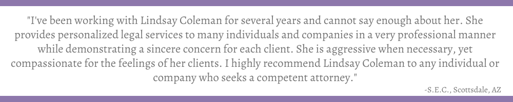 Review of Attorney Lindsay B. Coleman