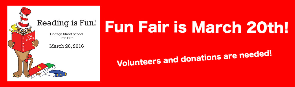 Fun Fair is coming and volunteers and donations are needed!