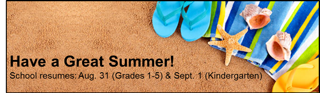 Have a Great Summer | 2016-17 School Calendar