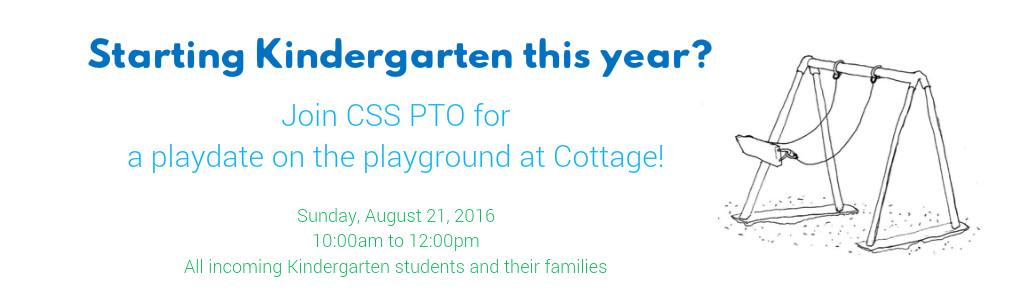 Kindergarten Playdate on the Playground!
