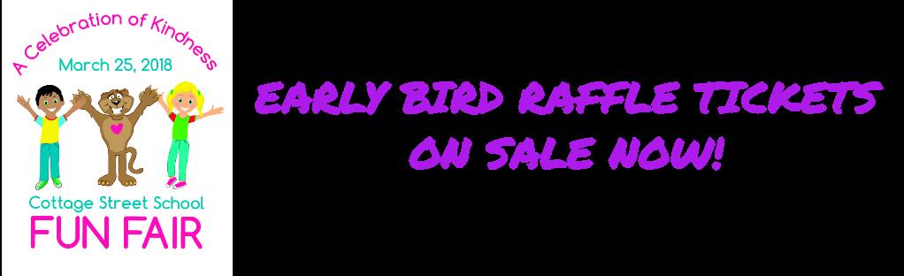 Early Bird Raffle Tickets on sale now!