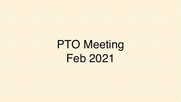 PTO Meeting – February