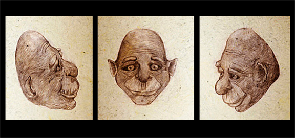 Forensic sketches of an Alux by Melissa Garlington Dávila.