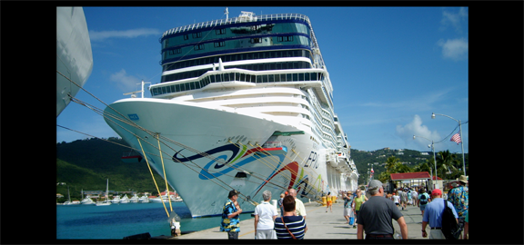 The Cruise Pier at at Havensight in Charlotte Amalie. (staff photo)
