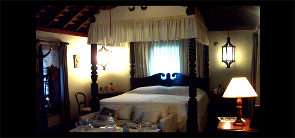 Master bedroom at the Johnny Cash house in Jamaica. (staff photo)