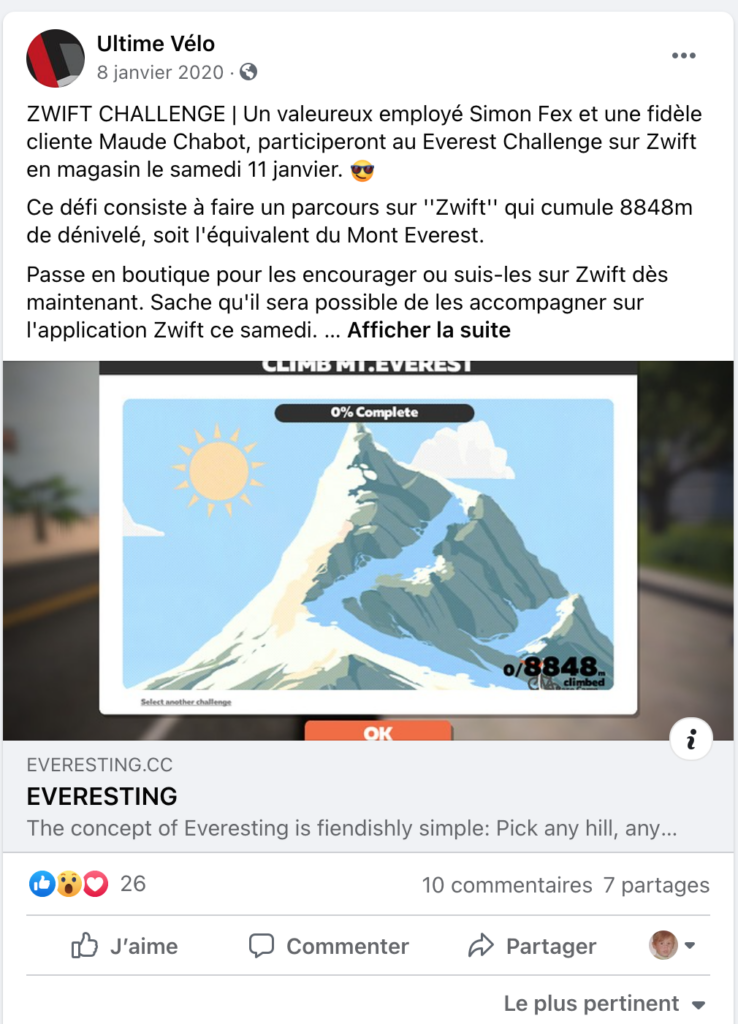 Challenge Everest Ultime Vélo
