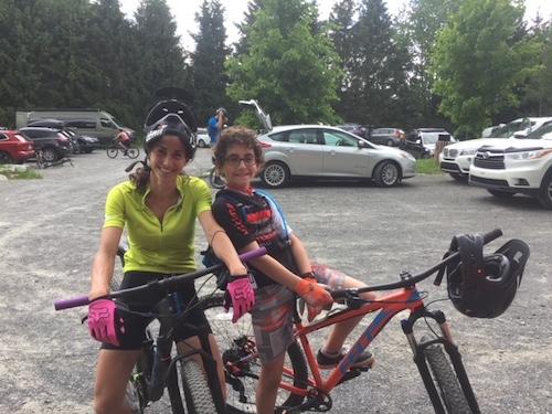Junior et Mountain Queen au Mont Oak