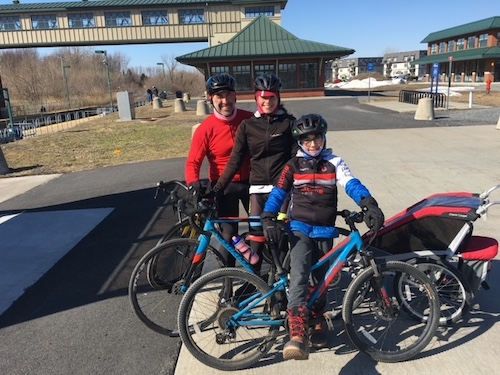 La famille TCR en vélo