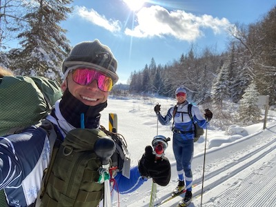 Marc et David Fontaine - Marathon de Ski Canadien - Hiver 2021
