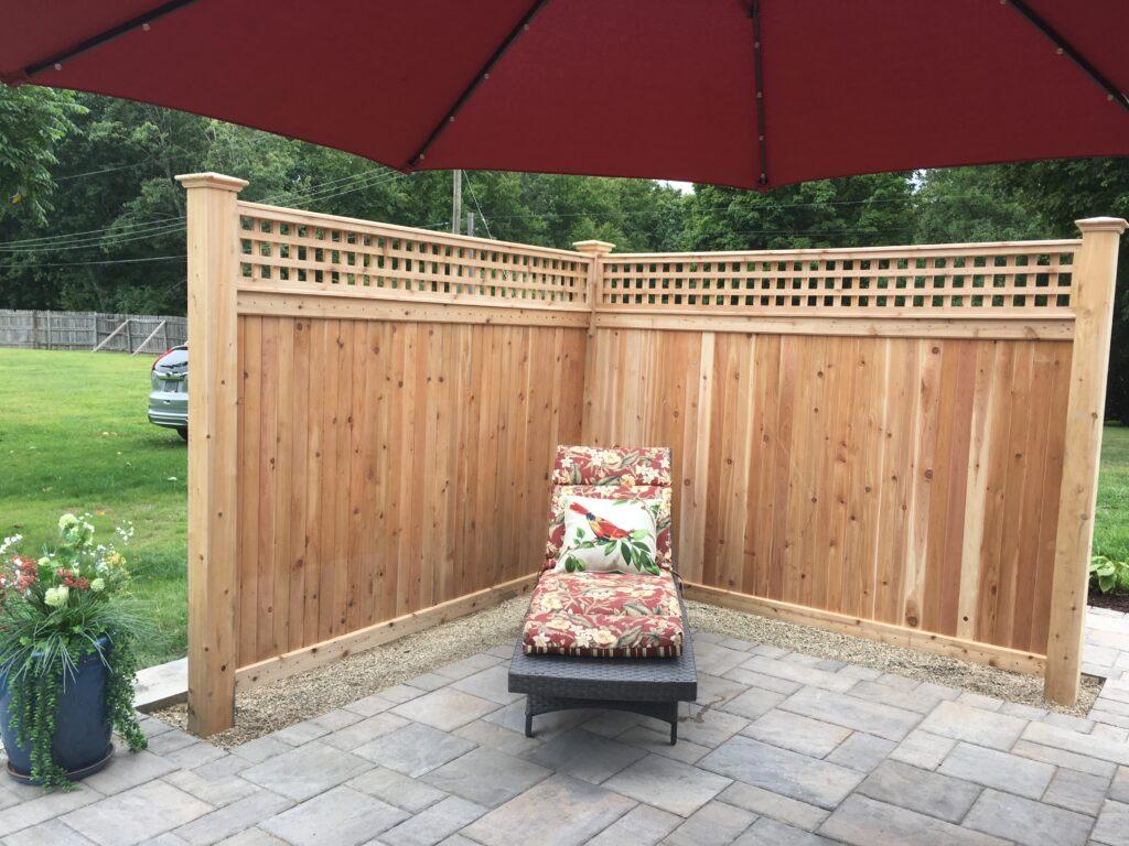 CFW - Cedar Lattice top Enclosure with Cedar Posts