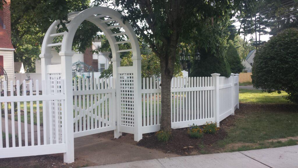 Solid White Arbor Entranceway