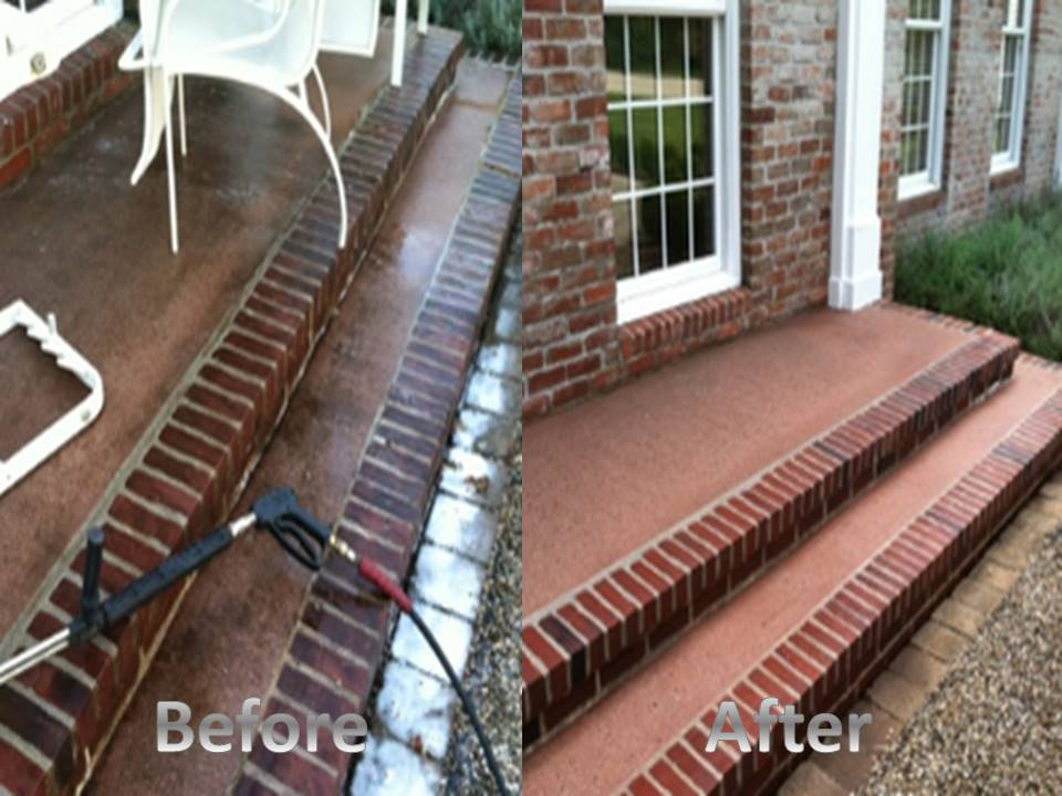 brick steps before and after