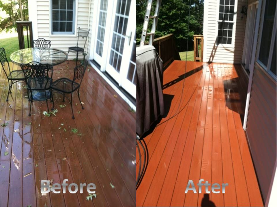 deck before and after