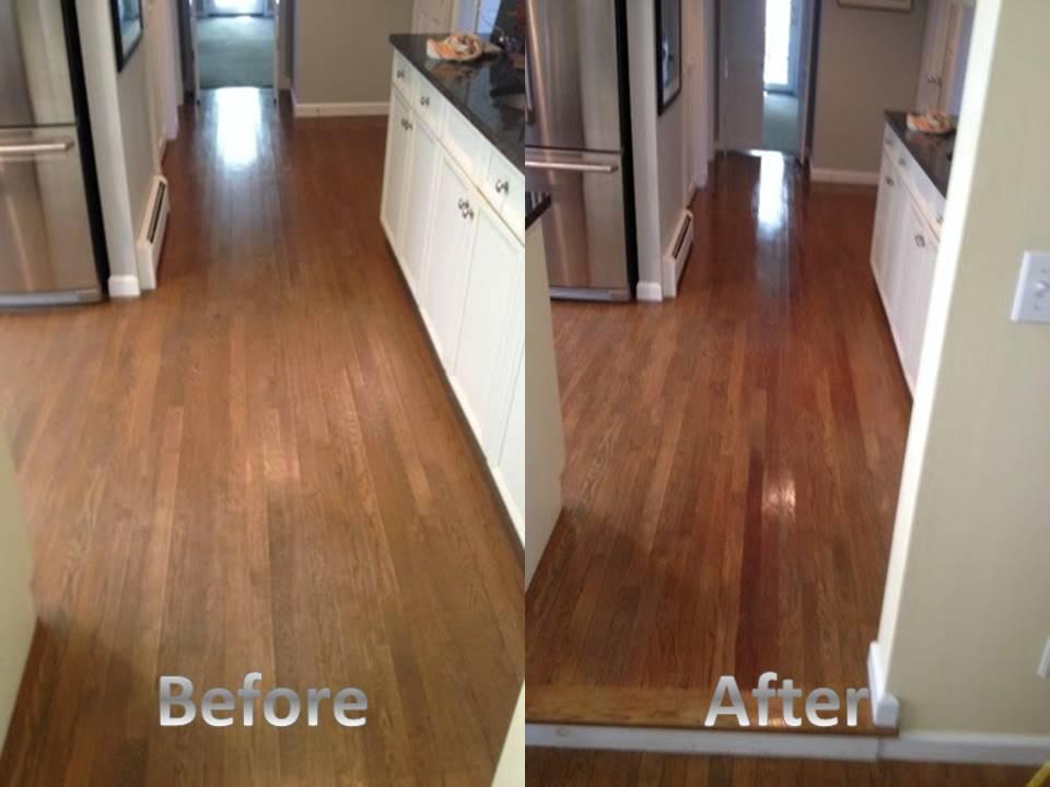 hardwood before after