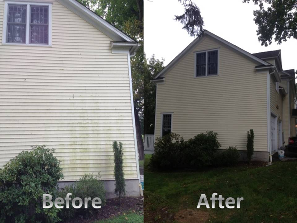house side vinyl before and after
