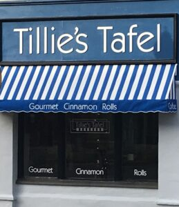 Store Front of Tillie's Tafel in Petoskey Michigan