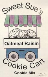 Sweet Sues Oatmeal Raisin Cart Cookie Mix