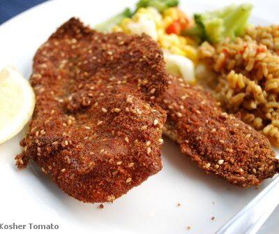 Flax & Sesame Seed Breaded Schnitzel