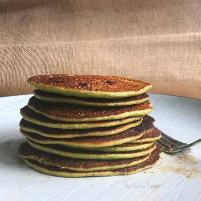 Strawberry-Spinach Whole Grain Pancakes