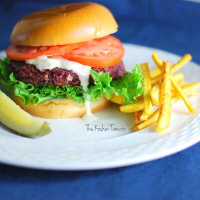 Beet Burger + Zesty Aioli Sauce