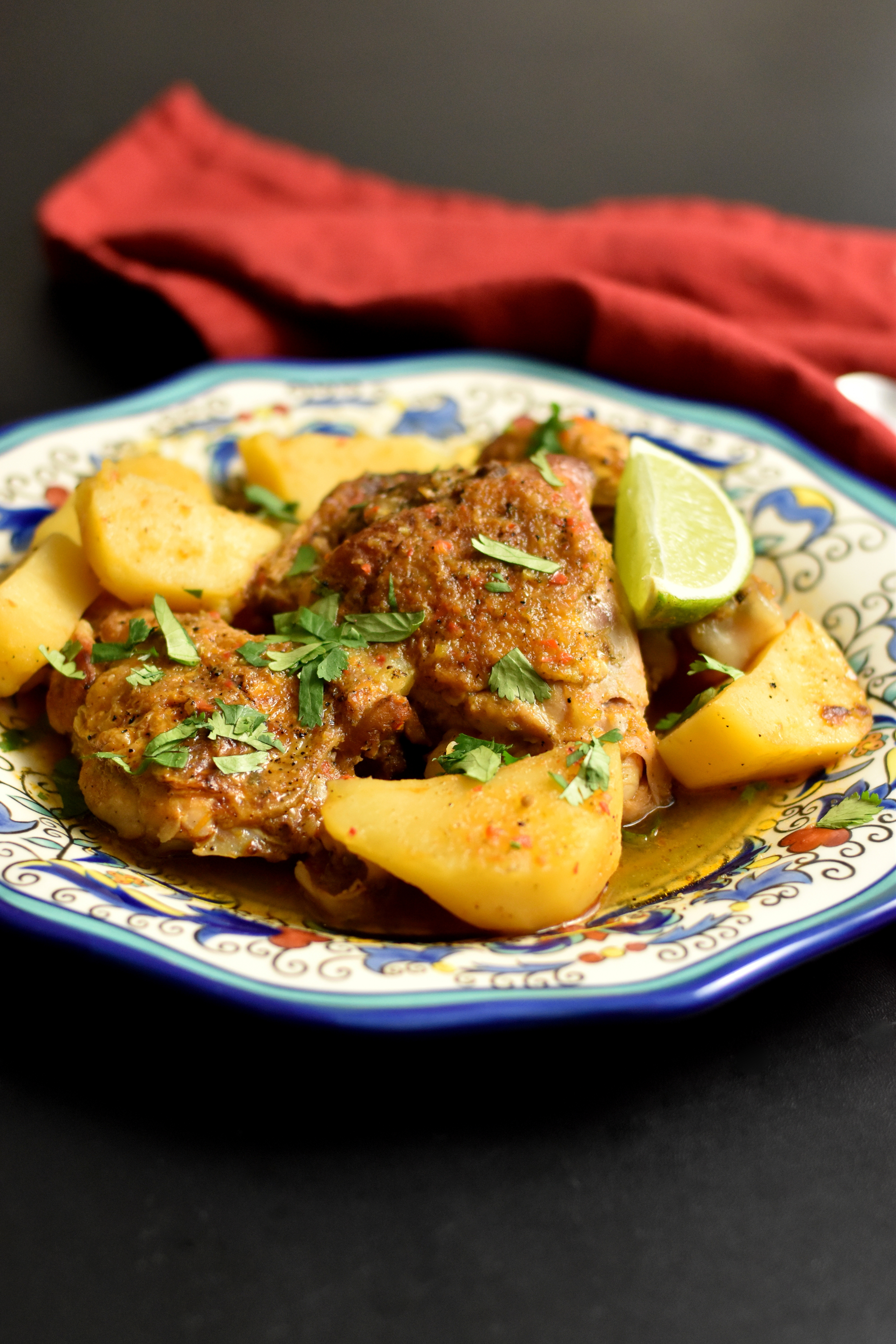 Delicious chicken stew with latin flavors
