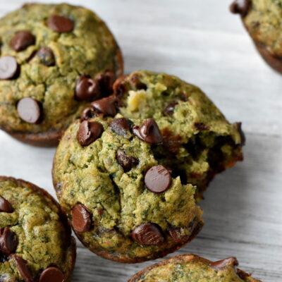 Plantain + Chocolate Muffins