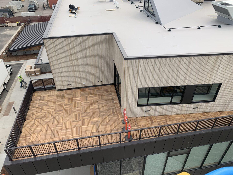 Roofing vinyl installation
