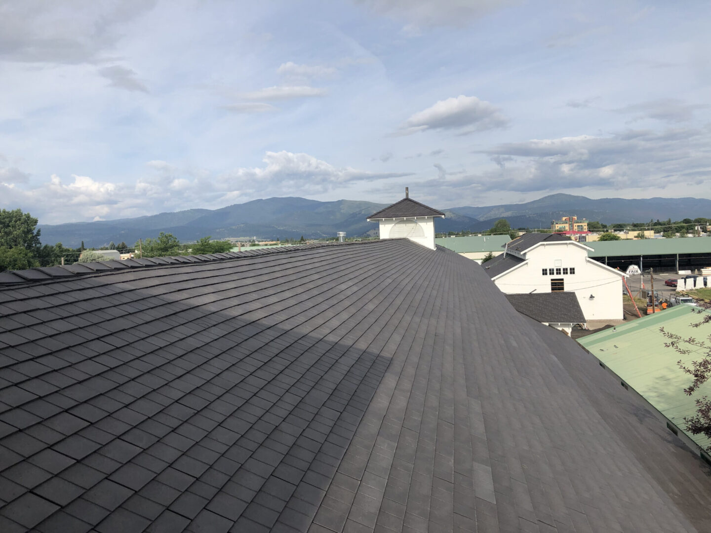 Roofing church