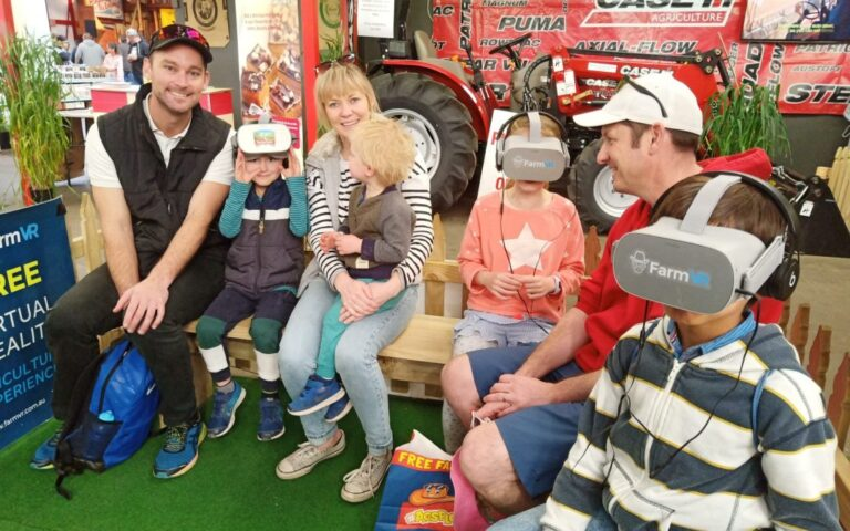 FarmVR Event Activation at the Royal Adelaide Show in 2019, kids enjoying VR experience