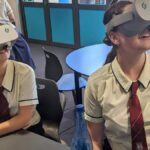 Student experiencing HealthConnectVR virtual reality experience